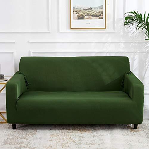 Cubierta de sofá de Spandex elástico de Color sólido Amarillo Funda de sofá de protección para sillón para Sala de Estar Amante Individual 2/3 plazas-SMSC029,3 plazas 190-235cm
