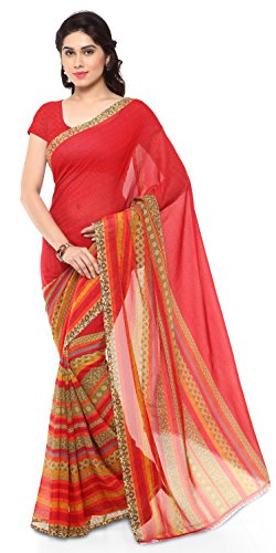 Anand Sarees Georgette Saree with Blouse Piece (1164_1_Multicoloured_One size)