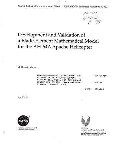 Development and validation of a blade-element mathematical model for the AH-64A Apache helicopter (English Edition)