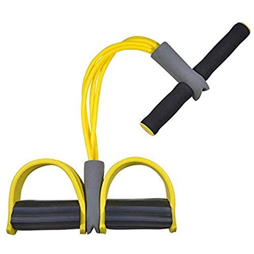 Resistance Elastic Pull Ropes Übung Rudergerät Belly Resistance Band Home Gym Sporttraining Elastic Bands für Fitness (Farbe: gelb)