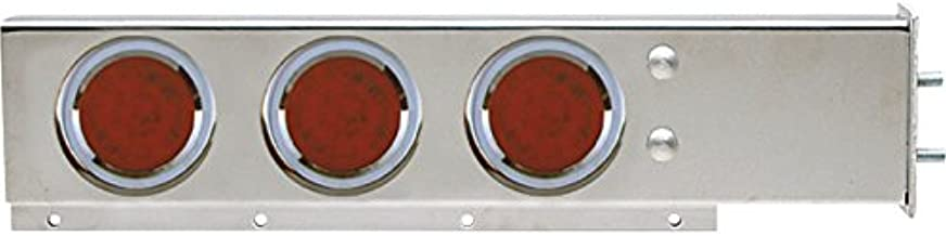TRUX Accessories Flat Top Semi-Truck Mud Flap Hanger Light Bars with Red LEDs - Pair, Model Number TU-9210L