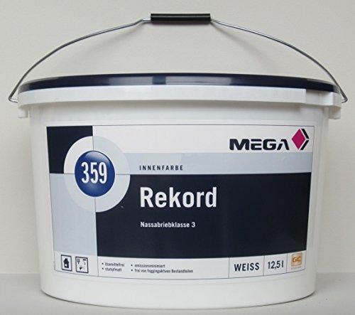 MEGA, Rekord, Weichmacher- und lösemittelfreie, emissionsminimierte, hochdeckende Innenwandfarbe, 12,5 l