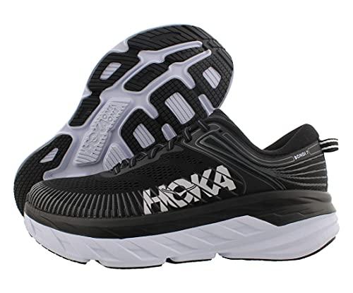 HOKA ONE ONE Bondi 7 Womens Shoes Size 8, Color: Black/White/Black