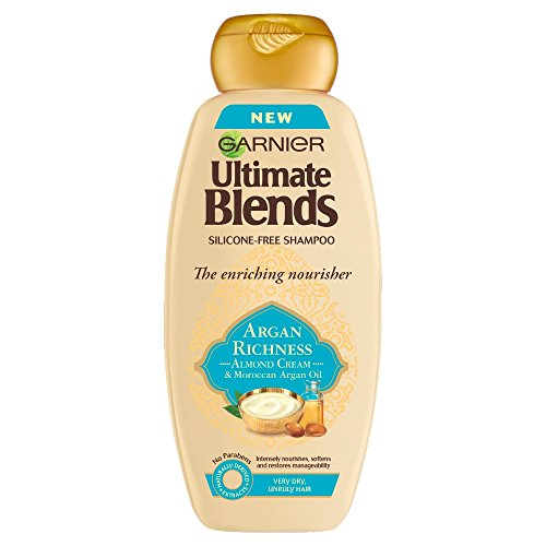 Garnier Ultimate Blends Argan Oil and Almond Cream Dry Hair Shampoo, 360ml