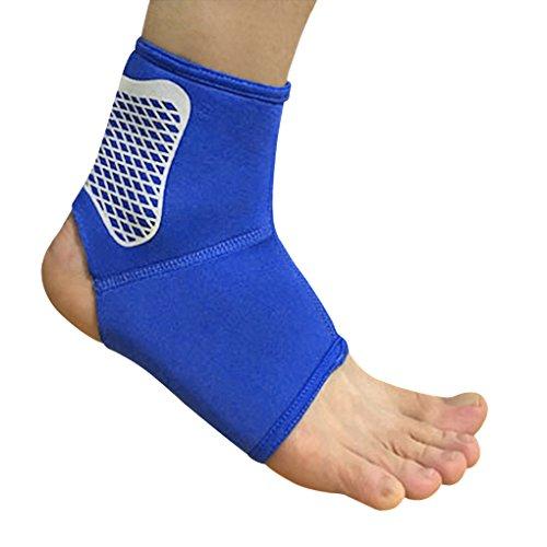 BXT Unisex Elastische Knöchelschoner Knöchelbandage, Gepolsterte Fußgelenkstütze Fußbandage, Sport Basketball Knöchelschiene, Laufen Joggen Fußgelenkschutz für Damen und Herren, 1 Paar
