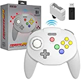 Retro-Bit Tribute 64 2.4 GHz Wireless Controller for Nintendo 64 (N64), Switch, PC, MacOS, RetroPie, Raspberry Pi and Other USB Devices - Classic Grey