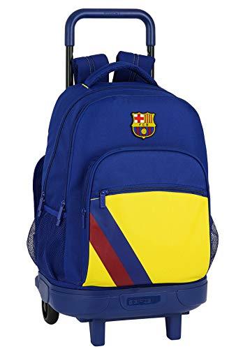 Safta Mochila Escolar con Carro Incluido y Espalada Acolchada de FC Barcelona, Multicolor (FC Barcelona 2ª Equip 19/20)
