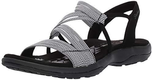 Skechers Damen Reggae Slim-Skech Appeal-Z-Gore Slingback Sandale, schwarz/weiß, 37 EU