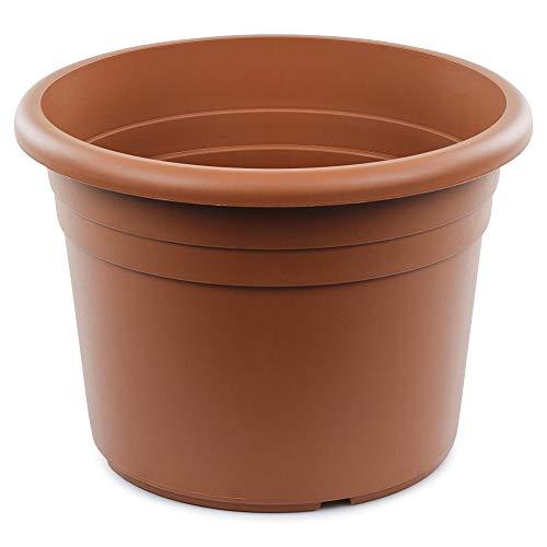 Seebauer Garden®   Maceta Diana   Forma moderna y redonda   Macetero para plantas   Resistente a las heladas y a los rayos UV (terracota, 40 cm)