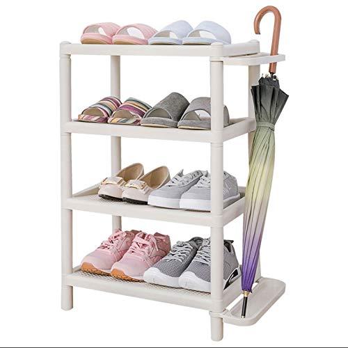HYAN Zapatero 3/4-TIER Shoe Rack Resin Multi-Use Shelf Shelf Almacenamiento Organizador para Baño de Pasillo de Entrada, Sala de Estar Caja de Zapatos (tamaño : 72cm(4-Tiers))