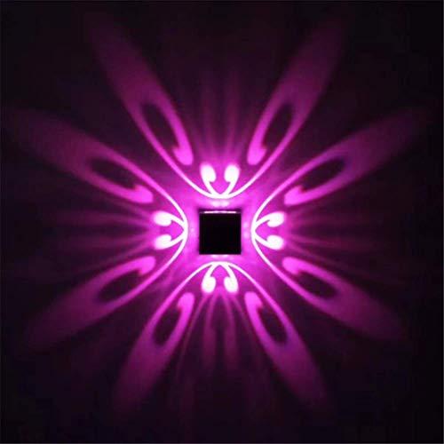 Luz de planta Luz de pared 1PCS 3W LED de la mariposa decorativa moderna cuadrado de aluminio Lámpara de pared for baño Habitación Hotel KTV estar Corredor de habitaciones cultivar luces para plantas
