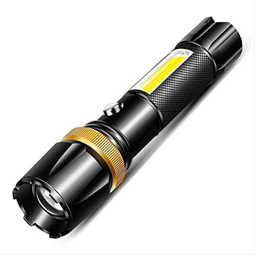 XSHIYQ Linterna LED Antorcha ultra brillante Luz de camping 5 modos de interruptor Luz de bicicleta con zoom 12000 lúmenes Paquete de LED A