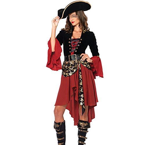 Vrouwelijke Pirate Kostuums, Halloween Volwassen Rollenspeelkleding High-End Performance Kleding Feestelijke Jurk Voor Volwassenen
