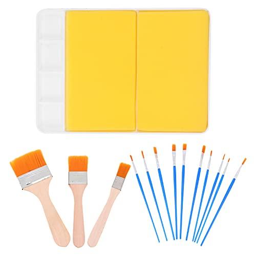 WINOMO Paint Brush Set Com Pintura Paletas Paleta de Plástico Bandejas de Pintura Escovas Canetas de Desenho Para A Aguarela Artista Óleo Rosto Corpo