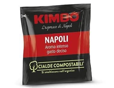 ESE Pads Espresso Mischung aus der neapolitanischen Rösterei Kimbo kräftig im Geschmack, vollmundiges Aroma, samtweiche Crema bestens geeignet für Espresso, Cappuccino und Latte Macchiato 100 Cialde à 7g einzeln frischeverpackt Pad-Standard: E.S.E. (...