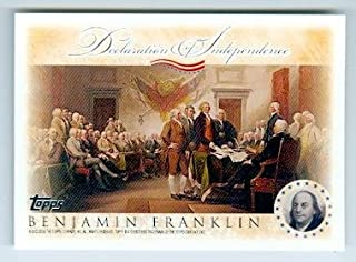 Benjamin Franklin trading card (Declaration of Independence United States) 2006 Topps #DIPBF