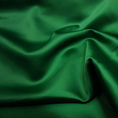MUYUNXI Tela De Raso Forro De Tela para Vestidos De Novias Fundas Artesanas Vestidos Blusas Ropa Interior 150 Cm De Ancho Vendido por 2 Metro(Color:Verde Oscuro)