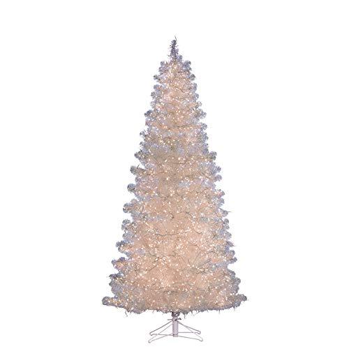 Black Box Trees Hadley Sapin de Noël LED 2520L Tips 934-h215xd107cm, PVC, Blanc, 215