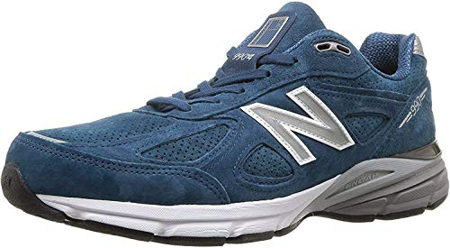 New Balance Men's Made 990 V4 Sneaker, North Sea/White, 10 D US