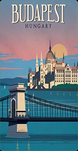 BCTS Placa de Metal de Budapest, Hungría, Europa, húngaro, Viajes Europeos, decoración al Aire Libre, 20 x 30 cm