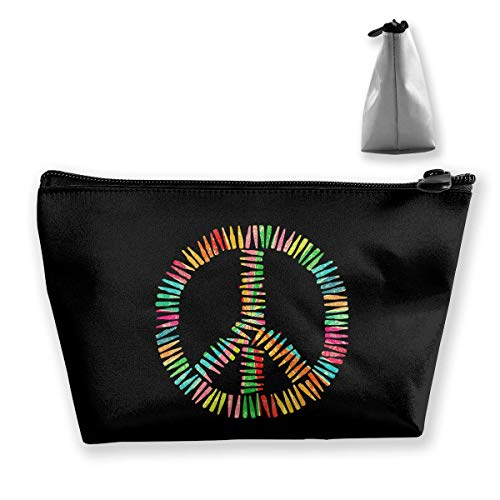 Colorful Bullet Peace Sign Multifunction Travel Makeup Bags Shaving Kit Buggy Bag Organizers With Zipper