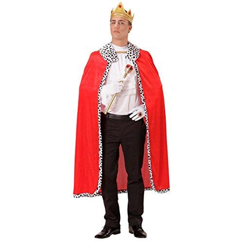 NET TOYS Königsmantel mit Krone Königsumhang mit Kopfschmuck König Robe Prinz Kostüm Gewand Prinzenkostüm Mantel Renaissance Märchenprinz Herrscher Umhang