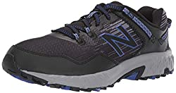 in budget affordable New Balance 410 V6 Trail Running Men's Sneakers, Black / UV Blue, 8 XW US
