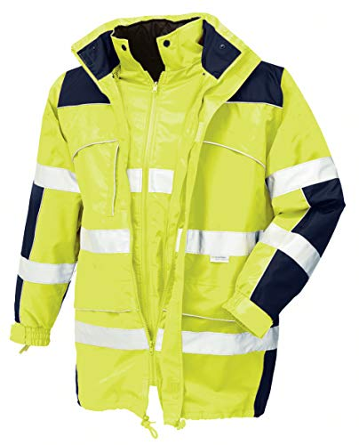 teXXor 4114 Warnschutz-Parka Toronto wasserdichte, winddichte Arbeitsjacke gelb L, M