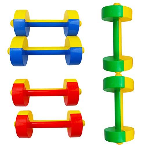 WINOMO 3 Paare Kinder Hanteln Fitness Sport Spielzeug Kunststoff Hanteln Set für Kinder Kindergarten Sportgeräte Liefert Workout Übungsspielzeug
