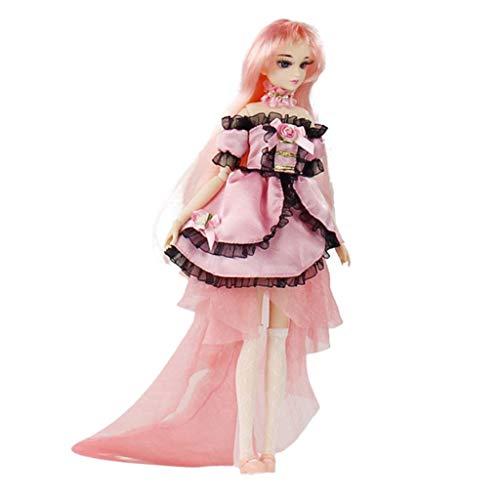 D DOLITY 30cm Flexible 14 Gelenke Beweglich Anime Mädchen Puppe Modell mit Kleidung Perfekt für Dekoration Sammlung Oder Geschenke - D