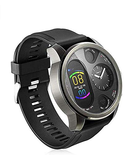 Dual Time Smartwatch Herren - Hybrid Smartwatch Herzfrequenz Blutdruckmessgerät Activity Fitness Tracker iOS Android Bluetooth Wasserdicht Schlafüberwachung Kaloriensport Smartwatch für Herren