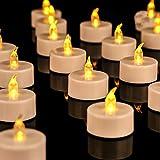 OSHINE 36unidades LED Velas Velas CR2032 pilas velas sin llama de iluminación eléctrica falso Vela para Hogar Navidad boda mesa regalo al aire libre Color