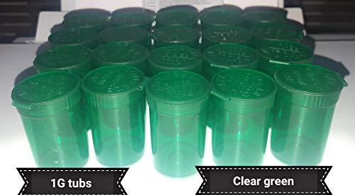 1g transparant groen geurbestendige Pop Top medische containers 6dram gratis RX Stickers