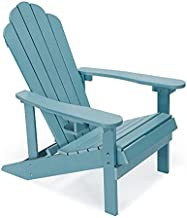 Petybety Adirondack Chair Weather Resistant with Cup Holder, Plastic Fade-Resistant Lounge Chairs with 450lbs Duty Rating, All-Weather Outdoor Chair for Fire Pit, Patio, Garden (Turquoise)