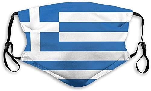 Griechenland Griechische Flagge Staub Sturmhauben mit 2 Filter für Unisex 1St