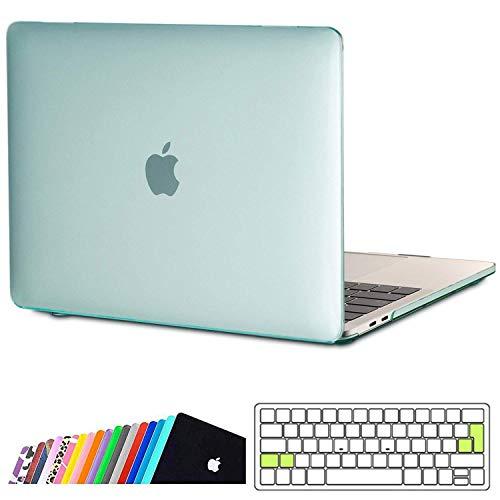 iNeseon Funda MacBook Pro 13 (A2159 A1989 A1706 A1708),Carcasa Delgado Case Duro y Cubierta del Teclado Transparente para 2019/2018/2017/2016 MacBook Pro 13 Pulgadas con/sin Touch Bar, Menta Verde