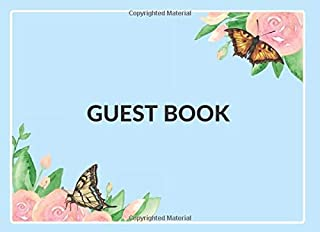 Guest Book: Beautiful and Elegant Guest Book for All Special Events | Enchanting Nature Theme Cover with 100 pages (Black ...