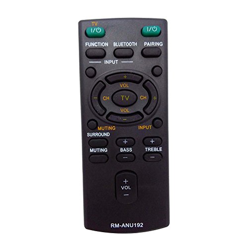sony remote control outlets New Sound Bar Remote Control RM-ANU192 SUB RM-ANU191 Remote fit for Sony HT-CT60BT SA-CT60BT SS-WCT60 Sound bar
