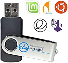 Everything But Stromboli (TM) 16GB USB 2.0 Linux Recovery Bootable Live Flash Drive (8-in-1) - Includes Ubuntu 18.04, Linux Mint, Clonezilla, Fedora, Tails, Kali and Instruction Manual