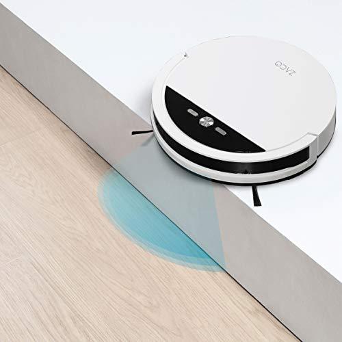 ILIFE V4 Saugroboter mit bürstenloser Direktabsaugung | Ideal für Tierhaare und Hartböden | Leistungsstarker Max-Modus | Beutellos | mit Ladestation | Automatischer Staubsauger Roboter mit Fallschutz