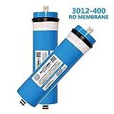 HEDDK 400 GPD Osmose Inverse Osmose Filtre, Membrane Ro Filtre À Eau Résidentiel pour sous Évier Boire À La Maison Ro Purificateur d'eau Système,2Pcs