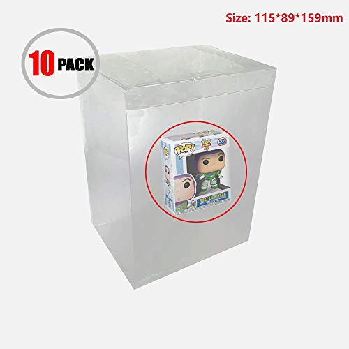 WiCareYo Box Protector for Funko Pop, 10pcs Protector Case Sleeve Clear Plastic Protection Case Compatible for Funko Pop Figure 4 inch Vinyl Figures