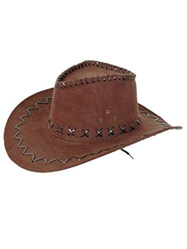 Harrys-Collection Chapeau de cowboy, Marron foncé