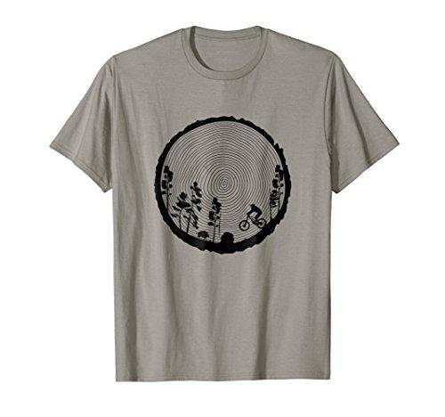 Mountain Bike T-Shirt MTB Wood Downhill Single Track Gift