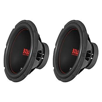Boss Chaos Exxtreme 12  1200W Dual Voice Coil 4 Ohm Car Audio Subwoofer  2 Pack