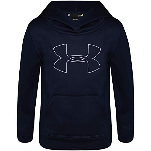 Under Armour Boys' Little Big Logo Hoodie, Academy H19, 7
