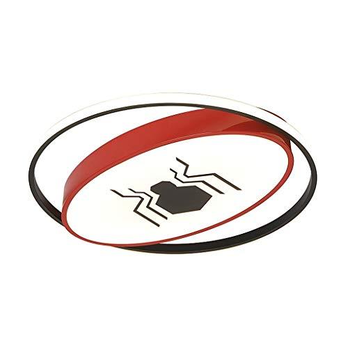 Metdek Spider/Bat - Lámpara LED de araña para habitación de niños, para estudio, dormitorio, habitación de los niños, color rojo, 50 cm de diámetro