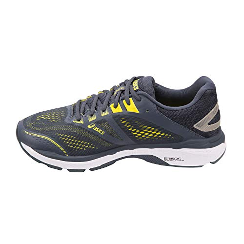 ASICS Men's GT-2000 7 (2E) Running Shoes, 10.5W, Tarmac/Lemon Spark