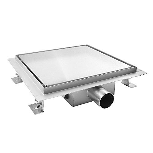 AQUADE 25x25cm Duschablauf Duschrinne Ablaufrinne Edelstahlrinne Bodenablauf Modell: 80103 (Größen 15cm - 25cm)