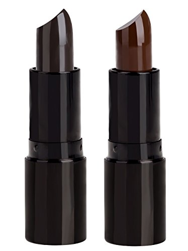 Professional Hair Color Lipstick Non-toxic Olive Oil In Crayon Cover White Temporary Hair Dyeing (2 Packs-Dark brown+Coffee)